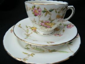 Sutherland china tea trio -briar roses